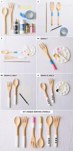 DIY Painted Serving Utensils - 3 Simple Budget-Friendly DIY Gifts #holiday #gifts #DIY #theeverygirl