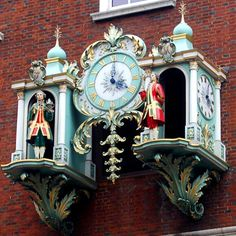 Clock on the Fortnum & Mason Department Store, London, England