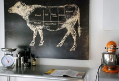 """""""Nothing makes a cook happier than a picture perfect work of art in the kitchen. Mine? A cow hangs proudly over my chefs table and reminds me every day that whatever indulgence you need to buy to inspire your cooking is well worth the price tag."""" - @Susan York"""