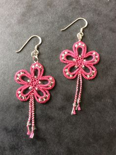 Tatted Earrings made for Ring of Tatters 2011 Competition