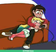 SVTFOE - Playing Nintendo on the couch. by byLisboa on DeviantArt Cute Cartoon Wallpapers, Cartoon Pics, Starco Comic, Little Poney, Animation, Star Butterfly, Sad Anime, Star Vs The Forces Of Evil, Force Of Evil