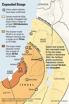 Gaza's newly acquired rockets put about 2/3 of Israel's people into the range of fire