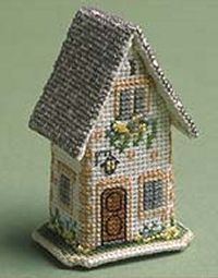 Easter in the Cotswolds, Cottage - Three Dimensional Cross Stitch Kit