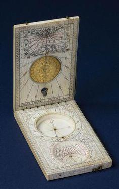 Paul REINMAN Nuremberg 1599 - Rare cadran diptyque multiple avec scaphe,