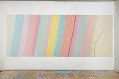 Sezione Aurea - Obliquo - Finale 628 by Giorgio Griffa (acrylic on canvas, 2010)
