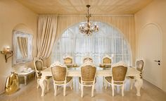 Asymmetrical windows dining room traditional with louis chair louis chair window treatments