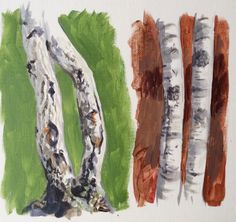 Learn how to paint birch trees in #acrylic with Jon Cox as part of our #landscape academy. Now available on ArtTutor.
