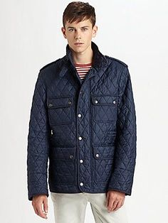 For the husband. Burberry Brit Quilted Field Jacket  #Saks