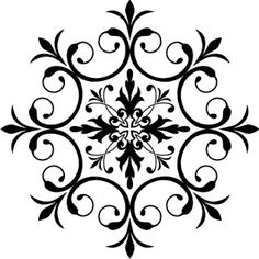 Several awesome round stencil patterns. EUROPEAN PAINTER - faux painting, murals, furniture decorating.