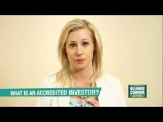 E Learing Series - What is an Accredited Investor?