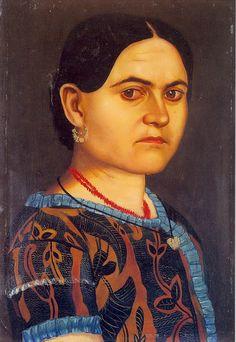 Doña Joaquina Ríos de Bustos by Hermenegildo Bustos (1832-1907), Mexican (notasomargonzalez)