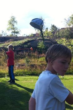The 9th hole - family golf night at Phantom Lake Golf Course Flin Flon