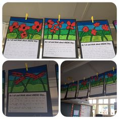 "ANZAC Day art. ""As I sit and think about ANZAC Day"" reflection. Courtesy of Tania Kirk"
