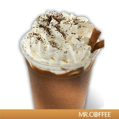 Who could resist a Dark Chocolate Mocha Frappe? Click here to see the recipe by Mr. Coffee® Brewers! #MrCoffee #MochaFrappe #Recipe #Coffee