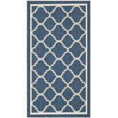 Found it at Wayfair - Courtyard Grantham Blue & Ivory Outdoor Area Rug