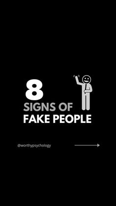 Signs of fake people