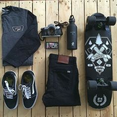 Edgy sleek and goes perfectly with your all-black ensemble. #OOTD #MensFashion #Skater #CatalystCase