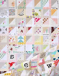 A Half Square Triangle Variation Quilt