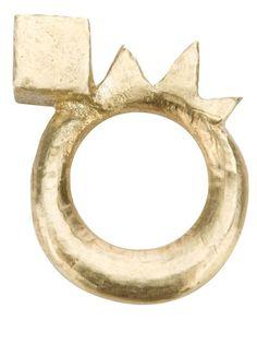 // MAILOSTESSO - Cube & Zig-Zag Ring