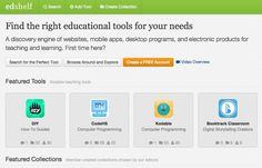 EdShelf - a curated library of quality, vetted and reviewed educational tools - www.edshelf.com