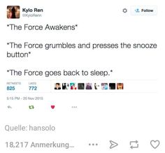 Star Wars the force awakens. Funny tumblr post