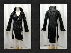 【楽天市場】ゴシック ゴスパンク パイレーツ風イレギュラー装飾コート黒:PARROT