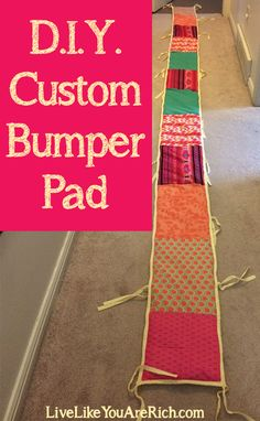 How to Customize Recover and/or Reupholster a Crib Bumper Pad. It really isnt that hard to do. If you can sew a straight line you can create a customized crib bumper pad. Bumper Pads For Cribs, Baby Bumper, Cot Bumper, Sewing Hacks, Sewing Crafts, Sewing Projects, Craft Projects, Diy Crafts, Sewing Ideas