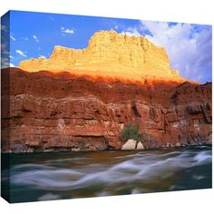 Dean Uhlinger Marble Canyon Sunset Gallery-Wrapped Canvas, Size: 24 x 32, Blue