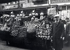Portobello Road 1958 Mr Brooks' vegetable stall