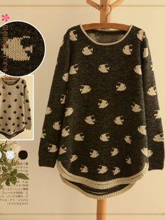 under-the-sea long sweater $42 #asianicandy #cutefashion #asianfashion #japanese #kstyle #kawaii #sweet #morigirl