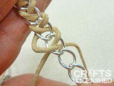 "Easy DIY: Leather and Chain ""Braid"" Wrap Bracelet"