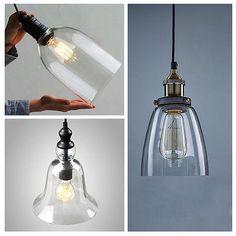 Industrial-Primitive-Glass-Ceiling-Lamp-Pendant-Light-Fixture-Lampshade-Cafe-Pub