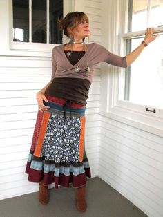 Upcycled skirt!