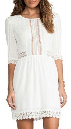 heartLoom Aimee Dress in White