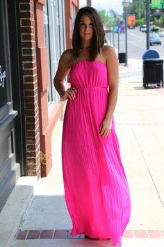 Hot Pink + Pleats {Dress}