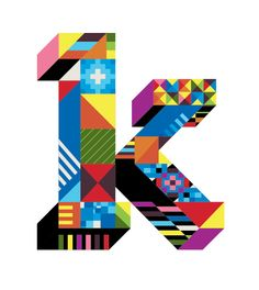 Letter K type design by Dan Agostino  #typography #design #pattern
