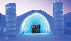 Ice Hotel in Sweden made different every year.  Go dogsledding and see the northern lights.