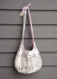 Emily's Slouch Bag Tutorial ~ ikat bag