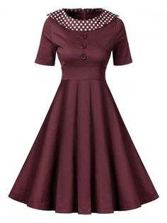 GET $50 NOW | Join RoseGal: Get YOUR $50 NOW!http://www.rosegal.com/vintage-dresses/retro-polka-dot-pin-up-1072034.html?seid=6822905rg1072034