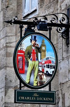 Bordeaux - The Charles Dickens pub sign by Biffo1944, via Flickr