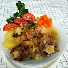 Beef tail soup..