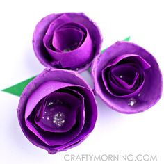 Tissue Paper Swirled Egg Carton Flowers - Crafty Morning - make roses for the Feast of St. Elizabeth of Hungary