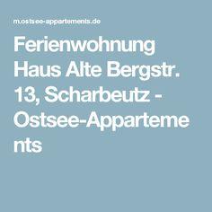 Ferienwohnung Haus Alte Bergstr. 13, Scharbeutz - Ostsee-Appartements
