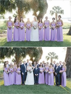 purple and navy wedding party #purplebridesmaids #navygroomsmen #weddingchicks http://www.weddingchicks.com/2014/03/07/traditional-southern-glam-wedding/