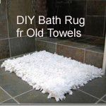 Use old towels for this soft inexpensive rug