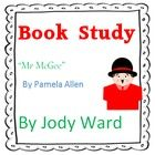"""This book Study contains 4 worksheet activities - 7 pages in total. Pg 1 -Cover Page Pg 2 -Character study """"Why was Mr McGee funny? Literacy Year 1, Early Literacy, Literacy Activities, Teaching Resources, Teaching Ideas, Spelling And Handwriting, English Resources, Rhyming Words, Author Studies"""