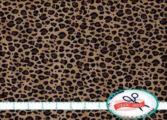 CHEETAH Fabric by the Yard Half Yard Fat Quarter Brown Cheetah Skin Fabric