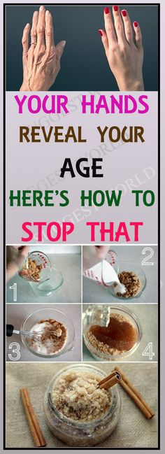 YOUR HANDS REVEAL YOUR AGE! HERE'S HOW TO STOP THAT! #hands #age #scrub #homeremedies #remedy #diy