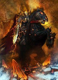 Archaon, par AlexSabo, in Warhammer Invasion par Fantasy Flight Games Dark Fantasy Art, Fantasy Battle, Fantasy Armor, High Fantasy, Medieval Fantasy, Fantasy World, Dark Art, Fantasy Creatures, Mythical Creatures