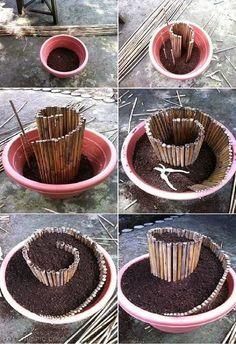 Cantinho craft da Nana: base para mini jardim